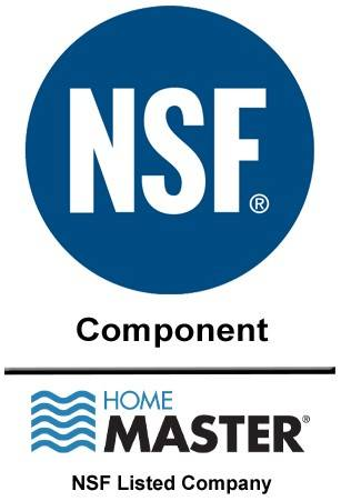 Home Master Water Filter NSF Component Certifications