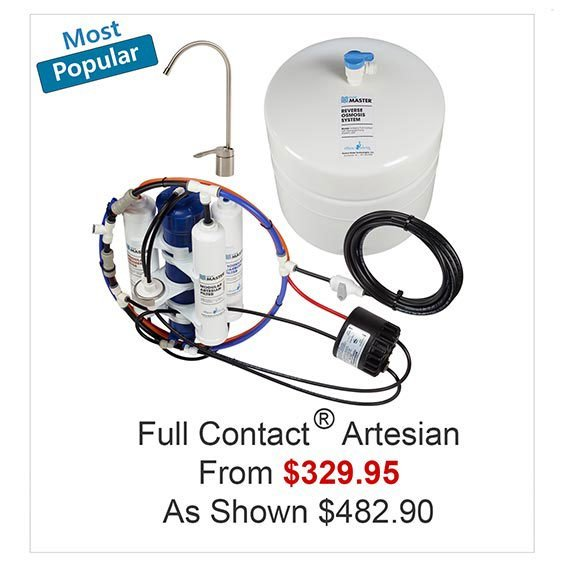 Home Master Artesian Full Contact RO system with Permeate Pump